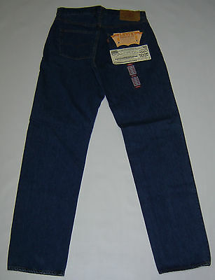 Levi's 501-002 BIG E RED LINE 12.5OZ INDIGO DENIM SHIRNK TO FIT PANTS USA MADE