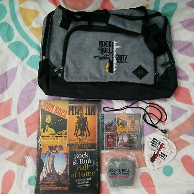 ROCK & ROLL HALL OF FAME 2017 INDUCTION PACKAGE Pearl Jam YES Journey ELO Baez
