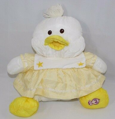 "Fisher Price Puffalump  White Duck With Dress 18"" 1988 Vintage"