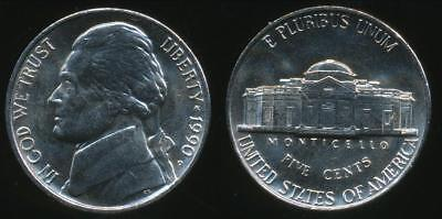 United States, 1990-P 5 Cents, Jefferson Nickel - almost Uncirculated