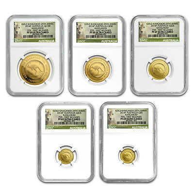 2014 Australia 5-Coin Gold Kangaroo Proof Set PF-69 NGC