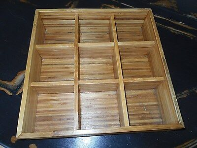 Bamboo Wood Desk or Craft Organizer from Pottery Barn