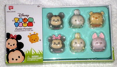 Disney Tsum Tsum Pastel Parade Limited Edition Boxed Set of 6 Mickey Minnie Pooh