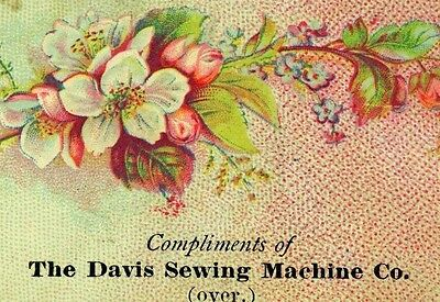 1870's-80's Davis Sewing Machine Co. State St. Chicago Victorian Trade Card F78