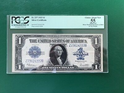 Fr-237 1923 Silver Certificate $1 Large Notes PCGS 55