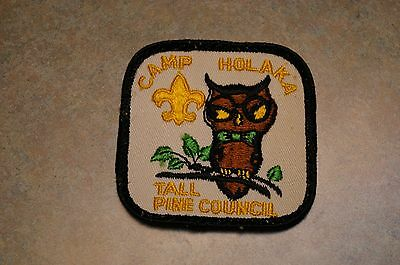 "Vintage 1970's Boy Scout Bsa 'camp Holaka' 'tall Pine Council' 3"" Patch"