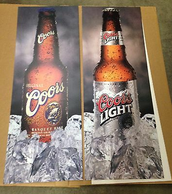 Beer Signs Coors Banquet & Coors Light Beer 2x Sided Heavy Duty Vinyl LAST ONE!