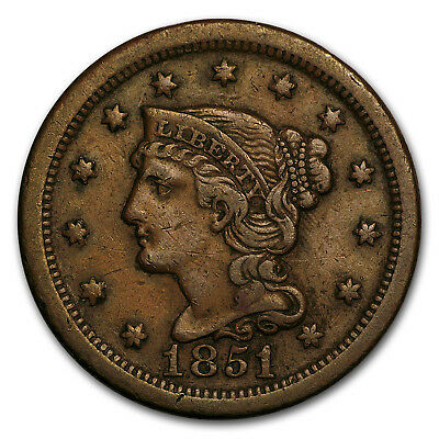1851/81 Large Cent XF