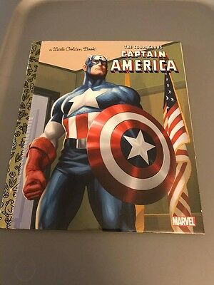 Little Golden Book: The Courageous Captain America by Billy Wrecks (2011)