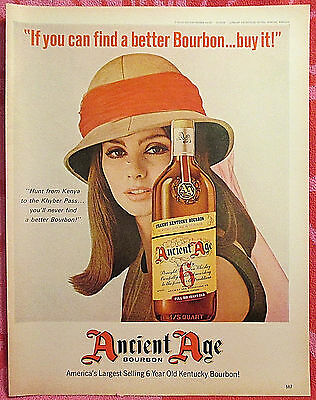 Ancient Age Bourbon 1967 Vintage Liquor Original Print Ad / Advertisement