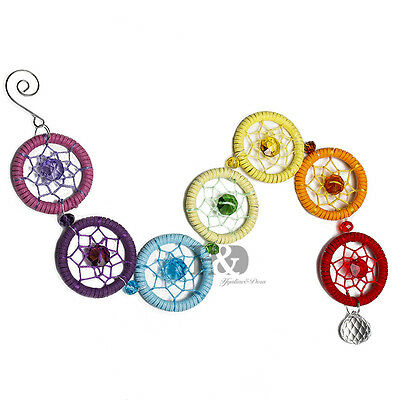 Chakra Crystal Dream Catcher Wall Hanging Ornament for Party Home Decor 19.2""