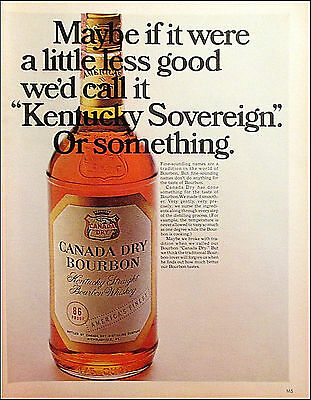 Canada Dry Bourbon 1967 Vintage Liquor Original Print Ad / Advertisement