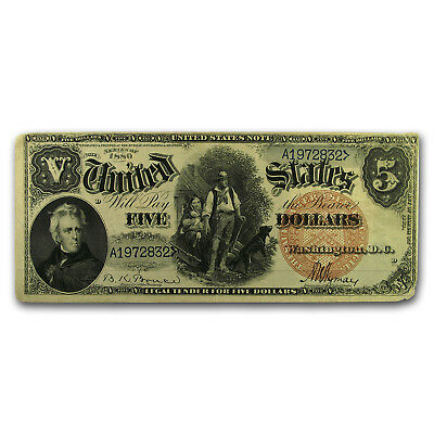 1880 $5.00 Legal Tender Woodchopper VF Details
