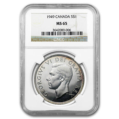 1949 Canada Silver Dollar MS-65 NGC