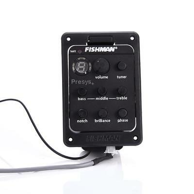 FISHMAN Presys+ 201 Acoustic Guitar Preamp Piezo Pickup 4 Band EQ Equalizer #IE