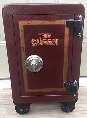 Rare Antique Restored Victor The Queen Small Safe Vault
