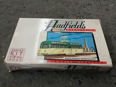 "Vintage Hadfield's HO/4mm Scale Blackpool Tram Series ""Vambac Railcoach"" Kit"