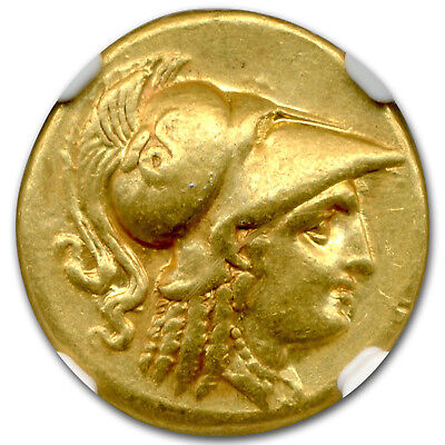 Macedonian Gold Stater Alexander III (336-323 BC) Ch XF NGC