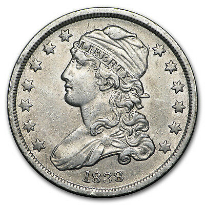 1838 Capped Bust Quarter AU