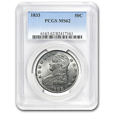 1833 Capped Bust Half Dollar MS-62 PCGS