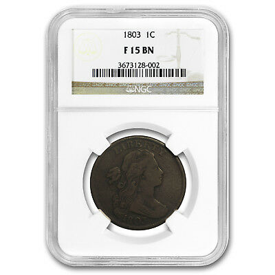 1803 Large Cent Sm Date/Lg Fraction F-15 NGC