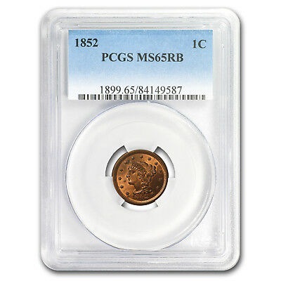 1852 Large Cent MS-65 PCGS (Red/Brown)