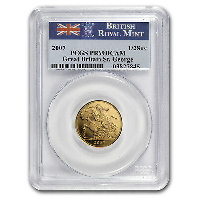 2007 Great Britain Gold 1/2 Sovereign PR-69 PCGS