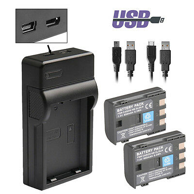 NB-2LH NB-2L Battery Charger for Canon Rebel XT XTi EOS 350D PowerShot S30 G9