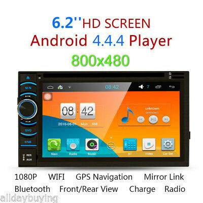 "2Din 6.5""Coche HD Reposacabezas Reproductor Android GPS BT WIFI SD/USB/FM 4 Core"