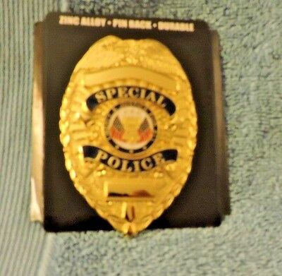 Co Closed selling out stock-Gold Special Police Badge-NEW