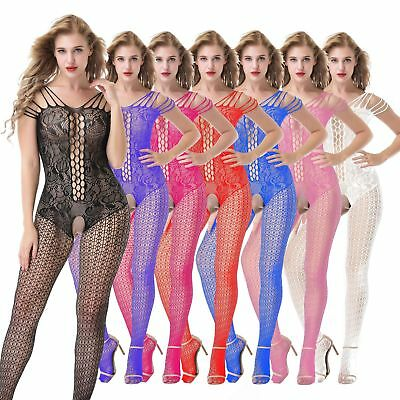 7 Colors Sexy-Womens-Lingerie-floral-Body stocking-Dress-Underwear-Club-Babydoll