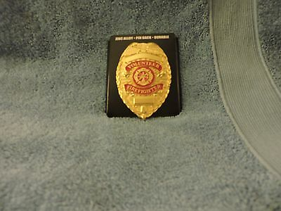 Co Closed selling out stock-Gold Volunteer Fire Fighter Badge-NEW