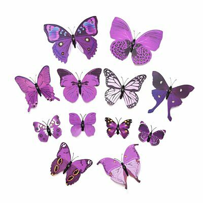 BS New Art Design Decal Wall Stickers 3D Butterfly Wall Stickers Home Decor Room