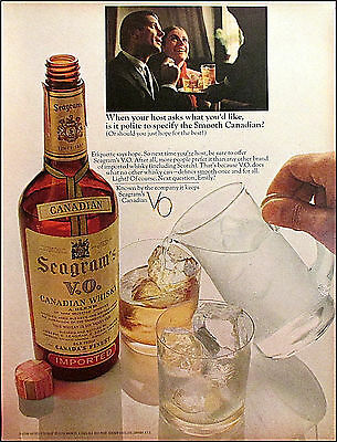Seagrams V.O. 1967 Vintage Liquor Original Print Ad / Advertisement