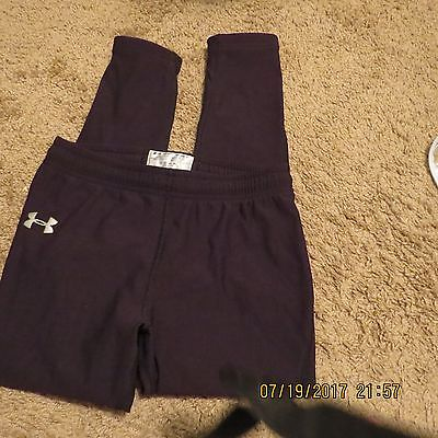 Under Armour Compression Black Leggings Athletic Pants Youth Large Boys Girls