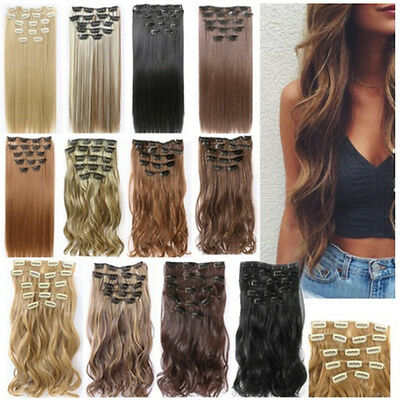 Full Head Clip in Hair Extensions 7PCS 16 Clips Real Long Natural as Human Set