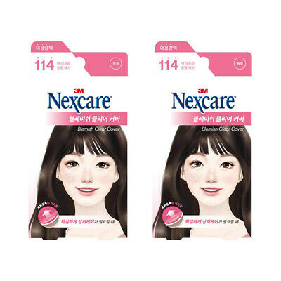 2 Pack 3M Nexcare Acne Dressing Pimple Care Stickers Patch Stickers 114 pcs