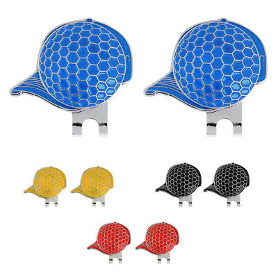 2Pcs Stainless Steel Cool Magnetic Hat / Cap Clip with Golf Ball Marker