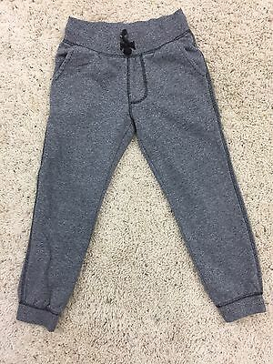 Old Navy Boys Banded Jogger Size XS 5 Black Grey Sweatpants