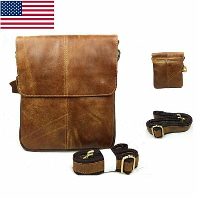 Fashion Men Casual Chest Bags Retro Leather Crossbody Bag Business Shoulder bag