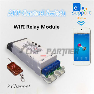 WLAN Relais Modul 220V Wireless Wifi Switch Relay Module + 433MHz Remote Control