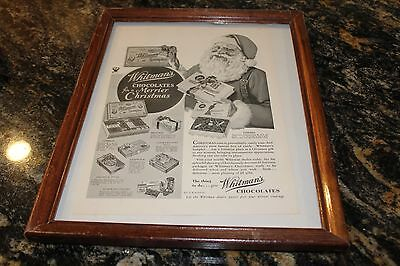 Dec 1933 Whitman's Chocolates Framed Vintage Print Ad Most Famous Box Of Candy