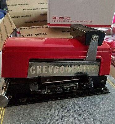 Old Chevron Chevronmatic Gas Station Credit Card Swiper Machine Standard Oil