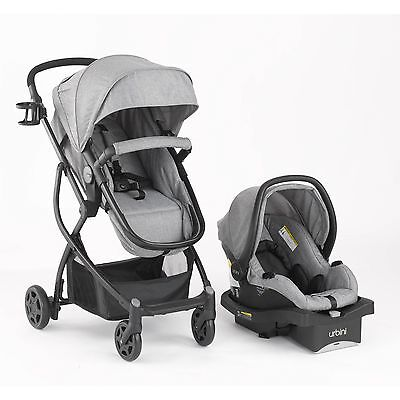 Stroller w/Car Seat Newborn Infant Baby Toddler Travel Carrier Combination, Gray
