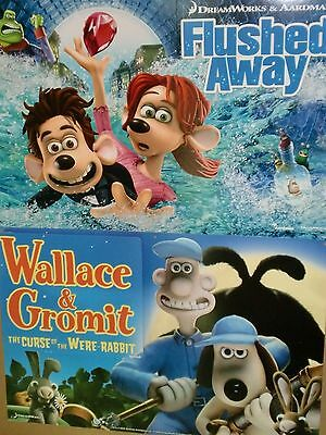 Dreamworks Wallace & Gromit The Curse of the Were Rabbit & Flushed Away posters