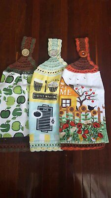 Country Kitchen Double Sided Hand Towel Three Pack