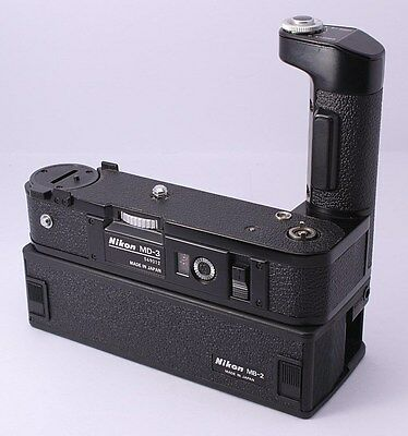 NEAR MINT Nikon MD-3 Motor Drive + MB-2 Battery Pack For F2 From Japan