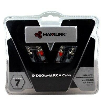 MaxxLink 2 CH DUOtwist RCA Cable (VRCA-10V2) - AUST RETAILER & WARR