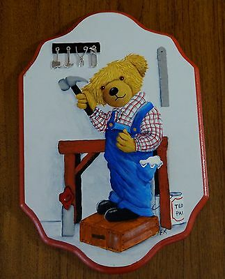 Folk Art Painting-Wall Hanging-Ted the Toolman-MDF-metal tools