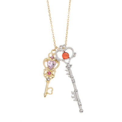 Anime Sailor Moon Key Pendant Necklace Jewelry Cosplay Gift Souvenir Collectible